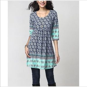Empire waist tunic dress
